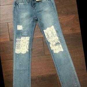 Sundance Magnolia lace jeans size 28